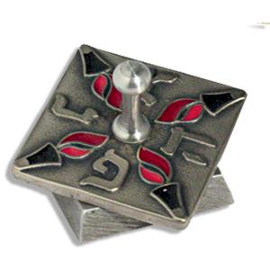 Chanukka-Dreidel aus Aluguss