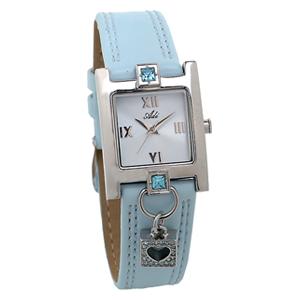 Armbanduhr in hellblau, Modell