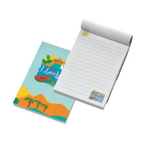 Linierter Schreibblock mit buntem