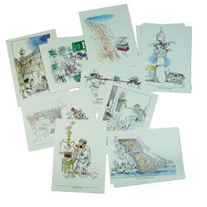 Postkarten-Set mit 12 Postkarten