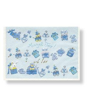 Glückwunschkarte zur Geburt eines Jungen mit