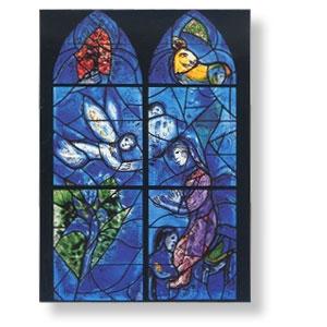 Grußkarte mit Chagall-Motiv - Sara im Gebet um ein Kind