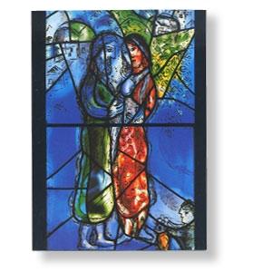 Grußkarte mit Chagall-Motiv - Isaak und Rebekka