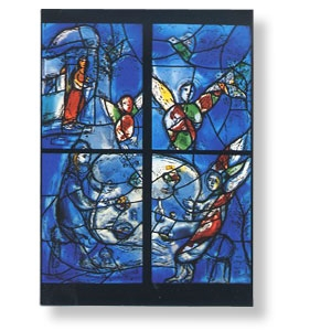Grußkarte mit Chagall-Motiv - Abraham und die drei Engel im Hain Mamre