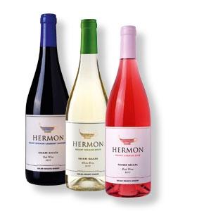 Weinpaket mit 3 Flaschen Mount Hermon