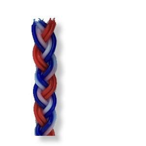 Große Hawdala-Kerze, bunt (blau-weiß-rot), ca. 37 cm lang - Angebot