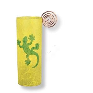 Gläsernes Windlicht Gecko