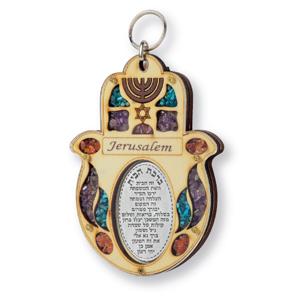 Chamsa mit der Aufschrift Jerusalem