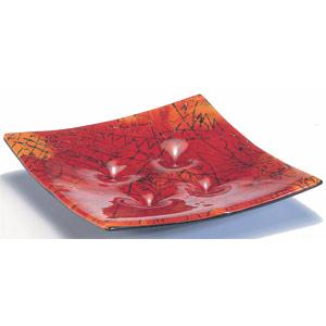 Viereckschale aus Naharia-Glas -