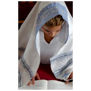 Hochwertiger Gebetsschal für Frauen - Unikat