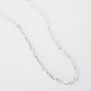 Silberkette Figaro, 40 cm lang