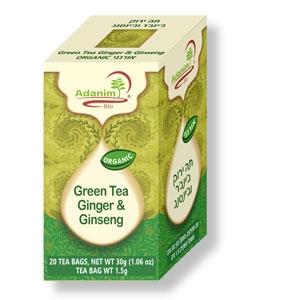 Bio-Grüntee mit Ingwer und Ginseng