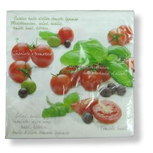 servietten mit tomaten dekor doronia einkaufen wie in. Black Bedroom Furniture Sets. Home Design Ideas