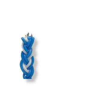 Große Hawdala-Kerze, bunt (blau-weiß), ca. 37 cm lang - Angebot