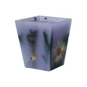Becherkerze Lavendel und Margerite