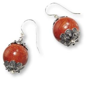 Ohrhänger mit großen Perlen