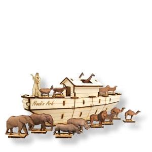Kleines Bastelset Arche Noah
