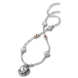 Silber-Perlen-Collier
