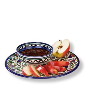 Hübsches Schälchen aus handbemalter Keramik, ca. 13 cm - 2. Wahl