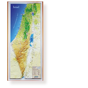 Dekorative Reliefkarte Israel