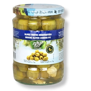 Grüne Oliven ohne Stein aus dem Kibbuz Yavne
