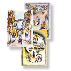 Jerusalem-Grußkarten, 3er-Set