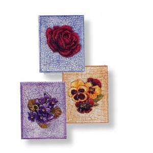 Drei Doppelkarten im Miniformat (11,5 x 9 cm)