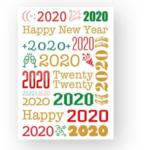 Neujahrskarte für 2020