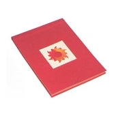 Notizbuch im Natur-Look mit Seidenbatik