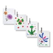 Set aus vier Mini-Doppelkarten für Geburtstag und Feste