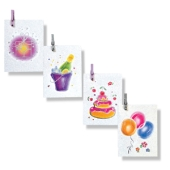 Modernes Grußkartenset aus 4 Mini-Doppelkarten
