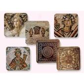 Zippori-Set mit sechs Untersetzern
