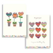 Zwei Doppelkarten (1 x blanko, 1 x Hochzeit)