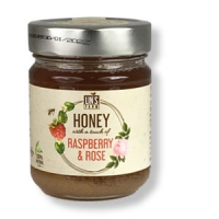 Wildblüten-Honig mit Himbeeren u. Rosenaroma,230g