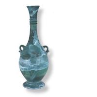 Amphore aus Hebron Glas, ca. 19,5 cm