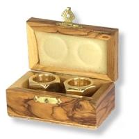 Schatulle aus schön gemasertem Olivenholz