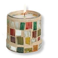 Dekoratives Mosaik-Windlicht