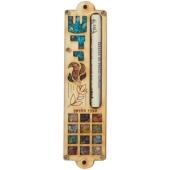 Holz-Mesusa mit Symbolschmuck und Choschen