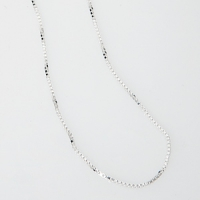 Silberkette im Venezianermuster