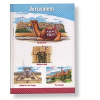 Linierter Notizbuch mit Jerusalemmotiven