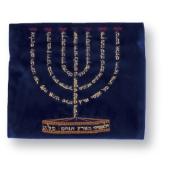 Tasche für Tefillin mit Menora-Motiv