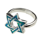 Davidstern-Ring mit Opal