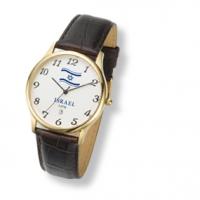 Vergoldete Uhr m. blauem Israel Signet