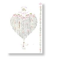 Glückwunschkarte zur Hochzeit mit Ehering-Motiv