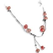 Collier mit Kirschquarz-Perlen