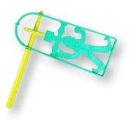 Bunte Purimrätsche aus Plastik - diverse Farben