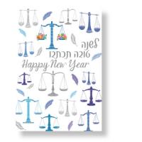 Neujahrskarte Waage