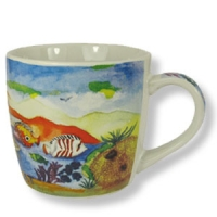 Bunte Tasse - maritimen Impressionen aus Eilat