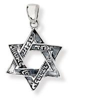 Davidstern-Anhänger aus zwei ineinander verschränkten Dreiecken