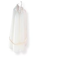 Weiße Leuchterkerzen, 6 er Pack